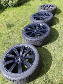 """22"""" range rover stormer alloys and tyres"""