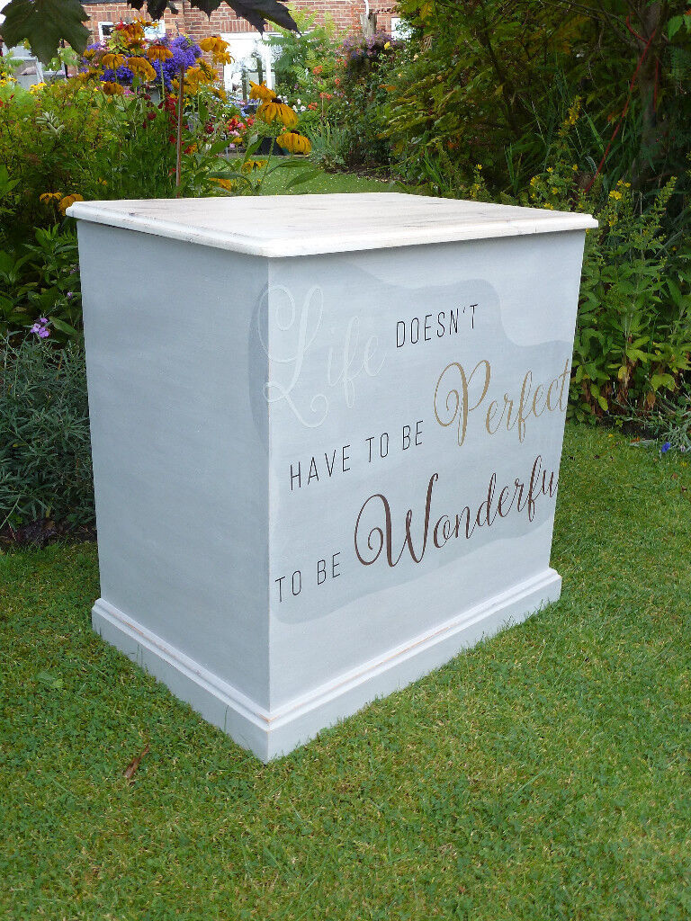 Shabby chic solid pine chest