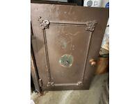 Vintage Antique Wooden Safe