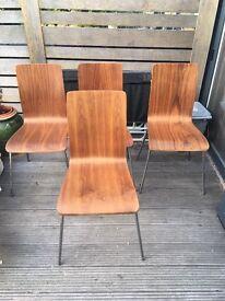 Walnut dwell dining chairs