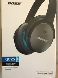 Bose qc 25 for apple devices mint condition with warranty