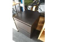 Ikea brown drawers, used, 40cm wide, 55cm tall, 48cm deep