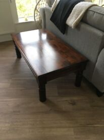 Stunning Mahogany Indian Style Coffee Table