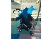 Reduced as we need the space - no time wasters please - Preloved Apple 2 Pear Double Pushchair