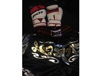 thai boxing shorts and gloves