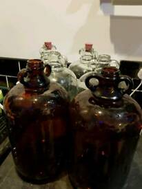 6 x 1 gallon Demi Johns for home brew
