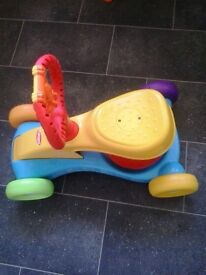 Bouncy musical ride on toy