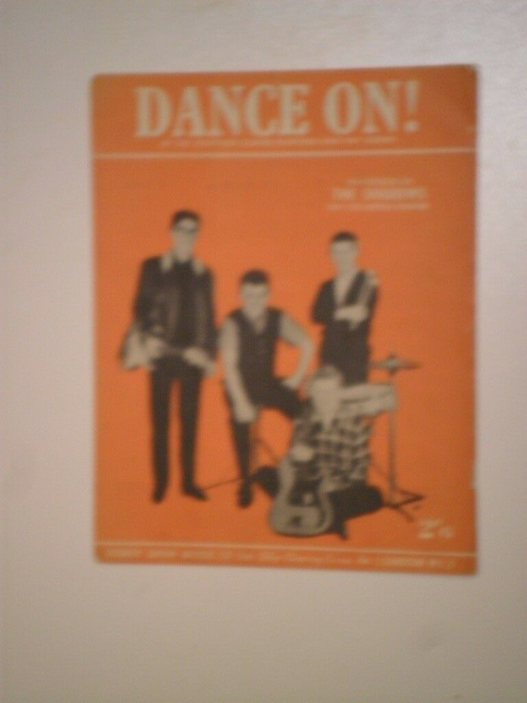 """SHEET MUSIC for THREE """"SHADOWS"""" HITS FROM THE 1960s  