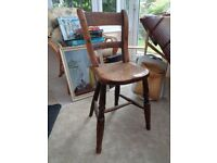 Antique Child's high/low Chair