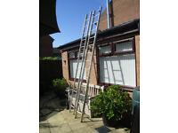 2 section 3.7 meter aluminum light weight DIY ladder