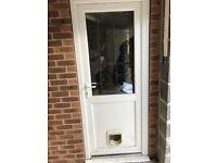 White UPVC door for sale.