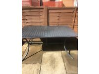 ABSOLUTE BARGAIN Garden TABLE and PARASOL