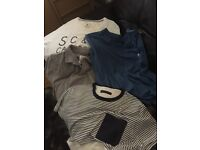 Large selection of men's clothes