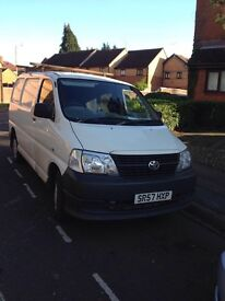 Mr Ali .i Han a lovely Toyota Hiace Van For Sale.have Mot Until October 2017.and one key and ready