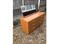 Retro six drawer dressing chest drawers (can deliver)