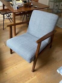 IKEA Ekenaset Midcentury Armchair light grey