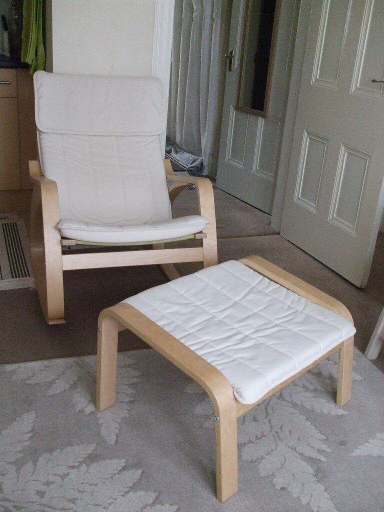 Fantastic 1 X Rocking Chair Foot Stool Cream Ikea Poang Range In Largs North Ayrshire Gumtree Spiritservingveterans Wood Chair Design Ideas Spiritservingveteransorg