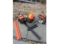 STIHL chainsaw and hedge cutters