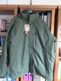 BRAND NEW 3 in one mens coat size large