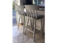 2 John Lewis breakfast bar stools