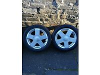 "ford 15"" five spoke alloy wheels"