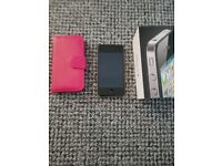 Iphone 4 8gb black mint condition with new charger case and boxed 02 network