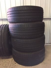 4 x Continental Conti Sport Contact 225/45 R17 91Y & 1 x Michelin Tyre