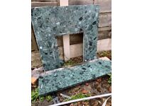 Wall Marble fire frame with matching ground base up for sale in Manchester