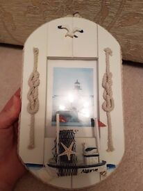 Picture frame - seaside design