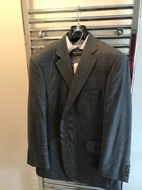 SAVILLE ROW Grey Prince of Wales Check Suit