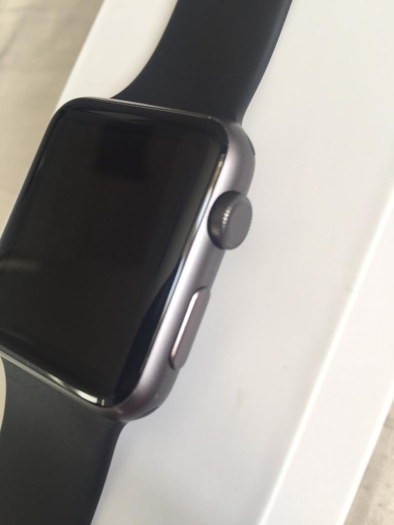 Apple Watch 42mm space greyin Hull, East YorkshireGumtree - Apple Watch 42mm series 1In good condition comes with box and charger, along with an additional strap Still under warranty as shown in the picture iCloud and everything else removed can be seen working Want 140 open to offers Text 07453528035