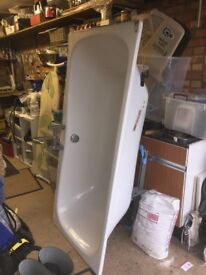 Steel Bath 1700mm X 750mm with central Mixer Taps etc