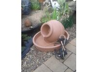 LOTUS ELITE GREEK URN AND BASE WATER FEATURE