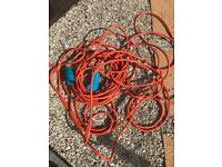 25metres cable with EU connector suitable for European campsites.