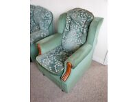 THREE PIECE SUITE AND ARMCHAIR - FULL SET