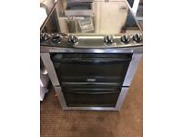 ZANUSSI ELECTRIC COOKER 60cm WIDE DOUBLE OVEN WITH GRILL FREE DELIVERY AND WARRANTY