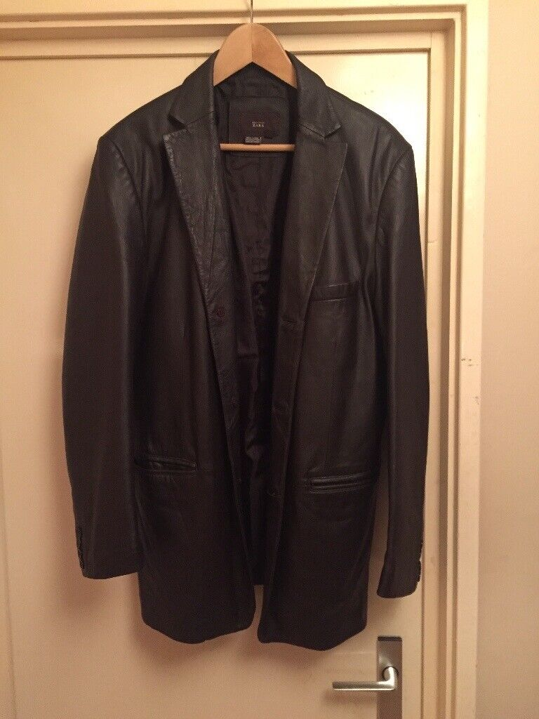 Mens Brown Real 100 Leather Jacket Bought From Zara Size