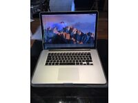"""Apple Macbook Pro 15"""" late 2013 - working but crack on screen"""
