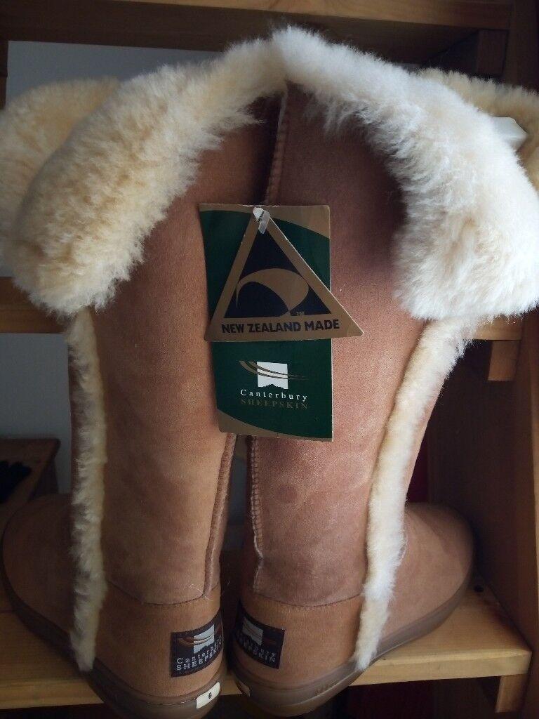 5b4e2890400 Sheepskin Boots canterbury womens size 6 new | in Blackpool, Lancashire |  Gumtree