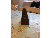 Original pyramid shape metronome with key and pull out alarm
