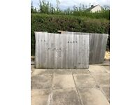 Garden fence wood panels for free