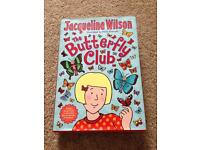 Jacqueline Wilson The Butterfly Club hard back book Excellent condition only £1