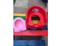 Potty with removable bowl