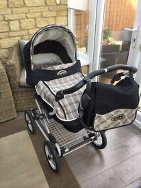Mothercare Inglesina Pram/ Pushchair/ Car seat system
