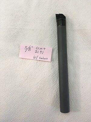 "NEW 5/8"" CARBIDE BORING BAR C10-SCLCR-2. TAKES CCMT 21.51 CARBIDE INSERT  (J924)"
