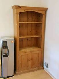 Antique effect solid pine drinks cabinet