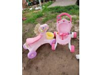 Fisher price pram and ride on horse