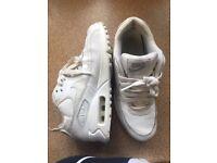 Nike Air Max 90 white 3.5uk junior