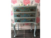 Pretty Decpoupaged Chest of Drawers