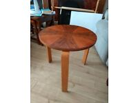 3 legged 460mm diameter coffee table, overall size 500mm x 450mm high